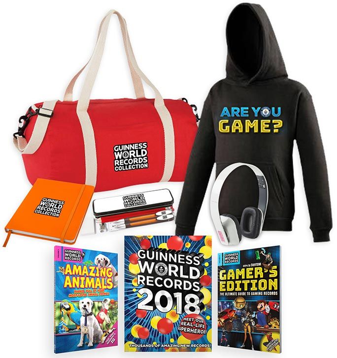 Guinness World Records goody bag prizes