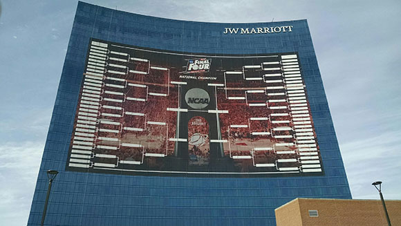 NCAA shoots for Largest sports tournament bracket world record ahead of Men's Final Four