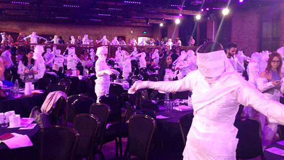 The mother of all records! Most People Wrapped as Mummies record tumbles at BritMums Live 2015