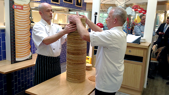 Center Parcs breaks record for tallest stack of pancakes