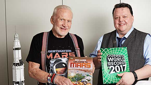 Buzz Aldrin and GWR Editor Craig Glenday thumbnail