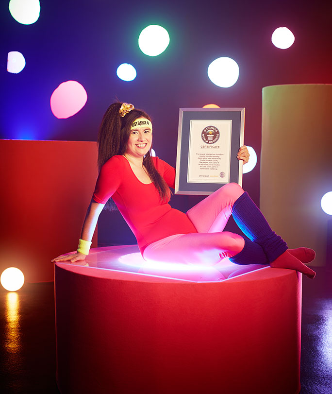Carrie Swidecki with her Guinness World Records certificate