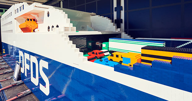 DFDS Largest LEGO ship and GWR certificate