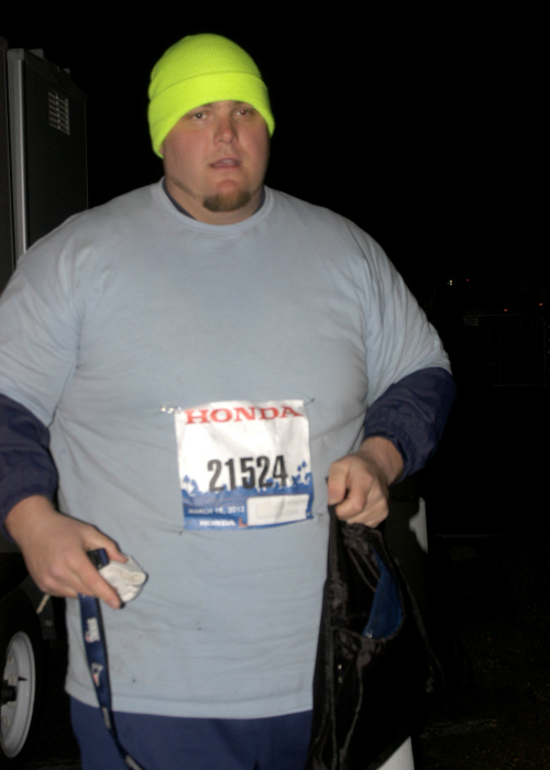 Heaviest person to run a marathon (male) 12