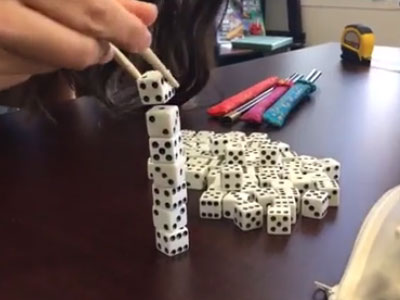Dice stacking