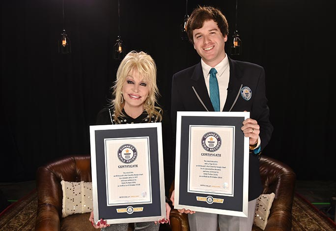 Dolly Parton sets 2 Guinness World Records