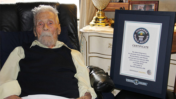 Dr. Alexander Imich confirmed as new world's oldest man at 111