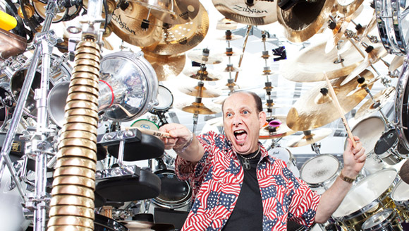Meet RevM - the owner of the world's largest drum set - video