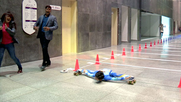 India's eight-year-old limbo skating sensation glides into the record books