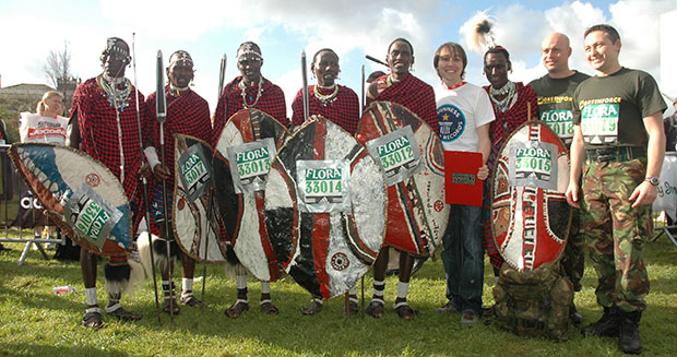 Fastest group of Maasai Warriors to complete a marathon