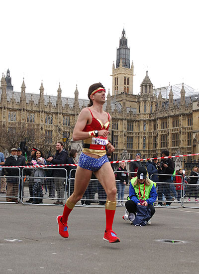 Fastest marathon dressed as a superhero