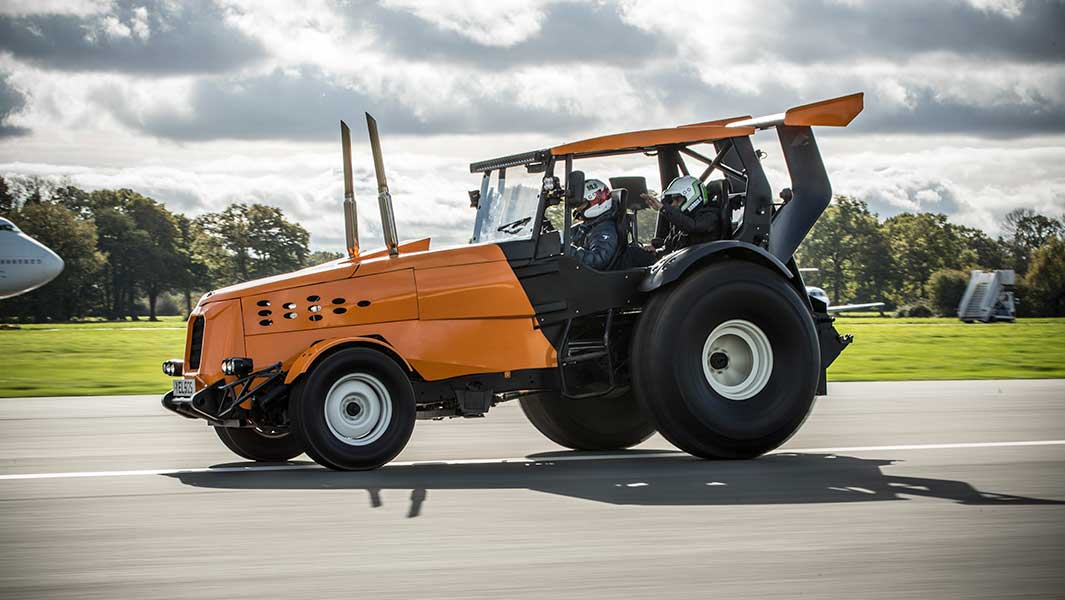 Top Gear Smashes Record For World S Fastest Tractor After Driving At