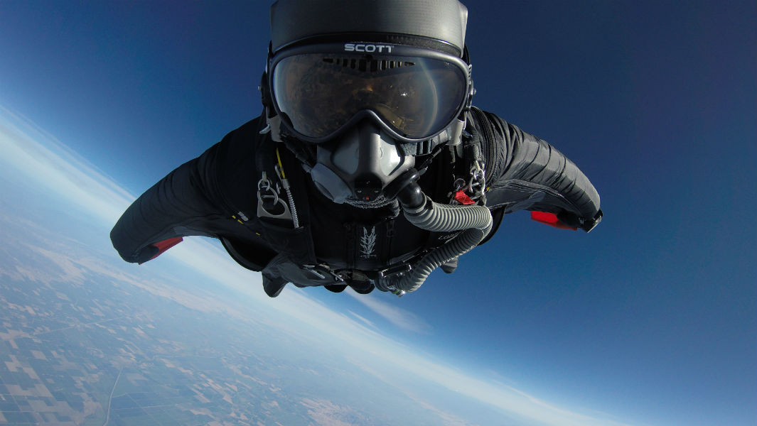 Monday Motivation: Kyle Lobpries, flying through the sky in a wingsuit