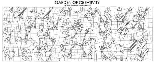 Garden of Creativity uncoloured