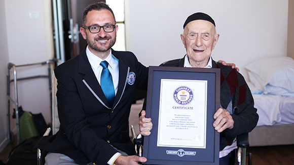 Guinness World Records announces Holocaust survivor Israel Kristal as world's oldest living man
