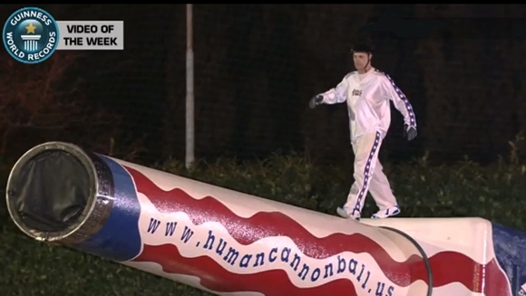 Video of the Week: Farthest Distance for a Human Cannonball