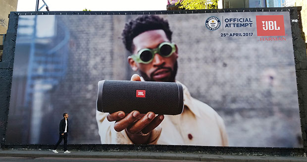 JBL poster in Shoreditch London