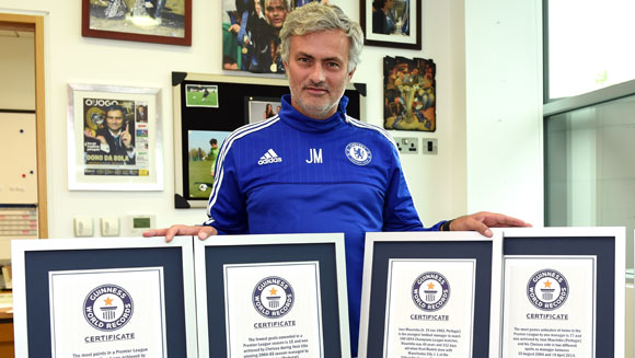 Jose Mourinho, Ronaldo and Yaya Toure among new football title holders in Guinness World Records 2016 edition