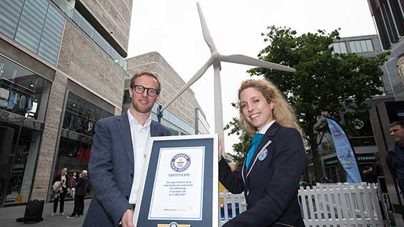 World's largest LEGO® brick wind turbine unveiled in Liverpool, UK