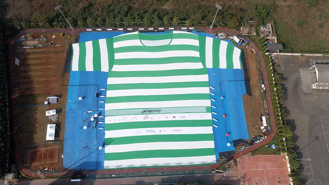 World's largest T-shirt is made from 200,000 recycled plastic bottles