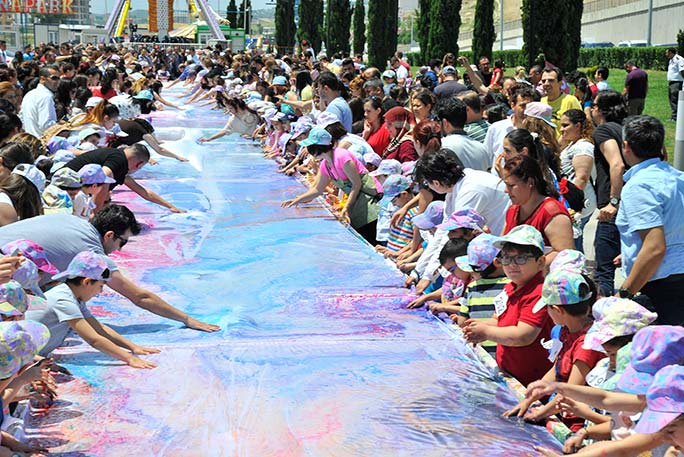 Largest fabric marbling painting gallery 3
