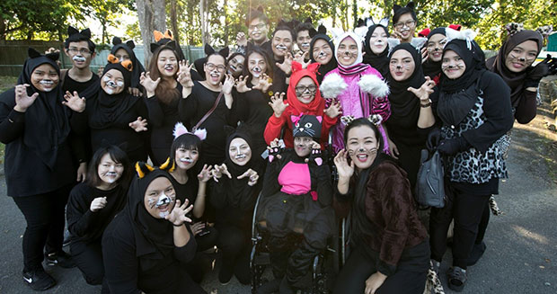 Largest gathering of people dressed as cats group
