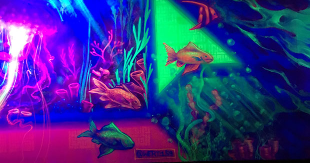 Largest glow in the dark painting fish