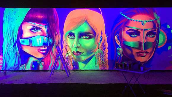 World's largest glow in the dark painting unveiled for UAE Innovation Week