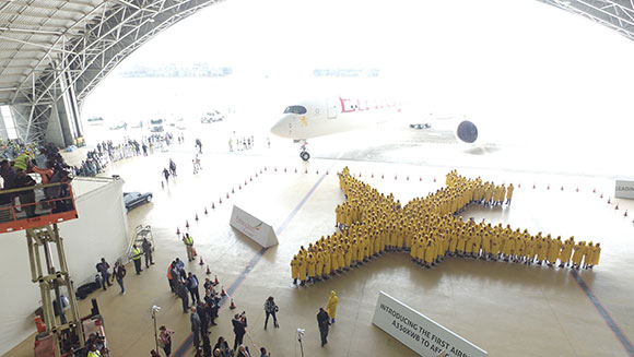 Largest human image of an airplane 2