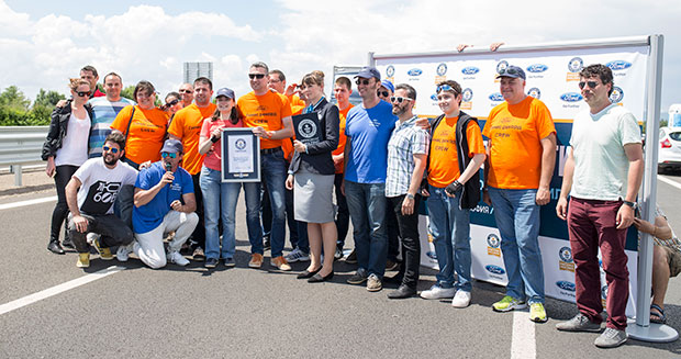 Largest parade of Ford cars Bulgaria Certificate presentation