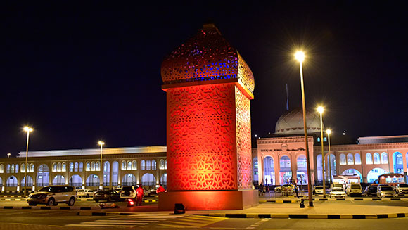 World's largest standing lantern unveiled at Souq Al Jubail food market in Sharjah