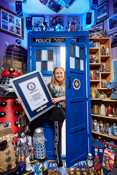 British girl has world's largest collection of Doctor Who ...