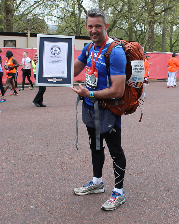 Fastest marathon carrying an 80-lb pack 2