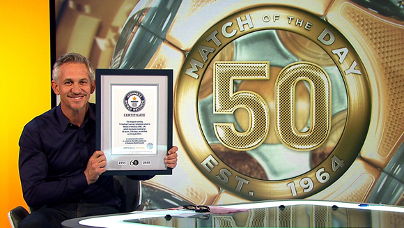 Match of the Day caps 50th anniversary season in style with world record