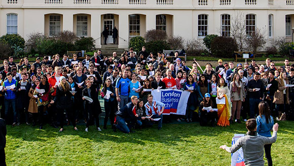 London Business School students celebrate diversity with most nationalities in a sing-along record