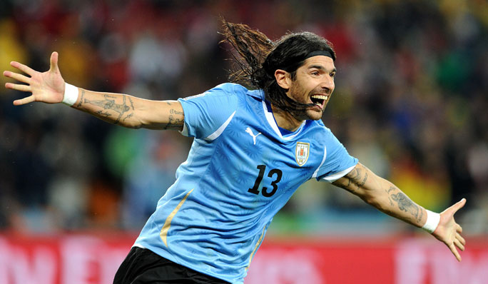Most professional football (soccer) teams played for by an individual - Sebastian Abreu. Credit: Alamy