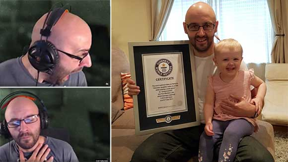 Twitch horror gamer breaks world record for most viewed clip after daughter startles him