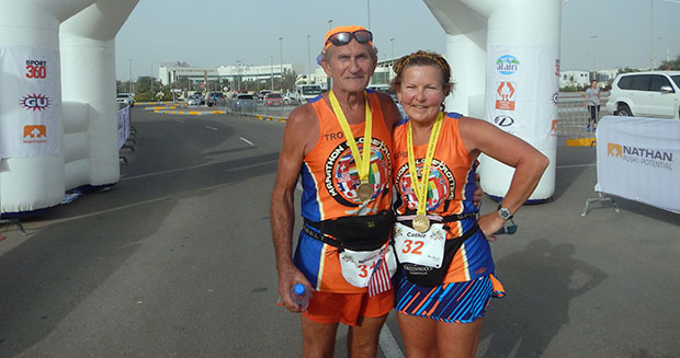 Oldest married couple to run a marathon on each continent