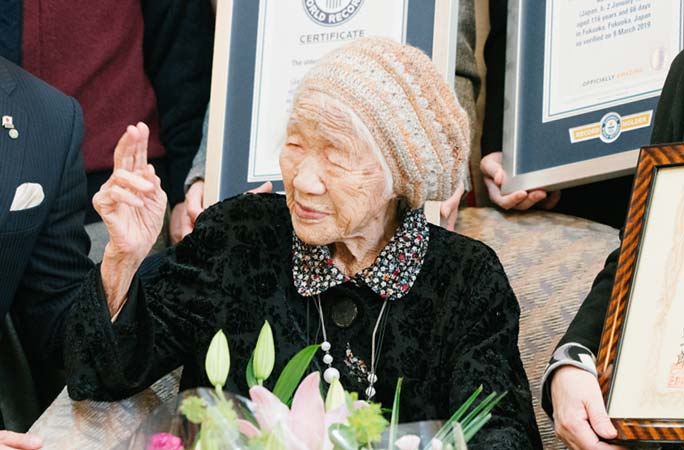 Japan's Kane Tanaka honoured as world's oldest living person