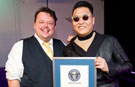 PSY receives Guinness World Records certificate for Gangnam Style