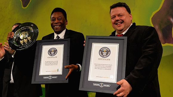Video: Pelé honoured with two Guinness World Records achievements in London