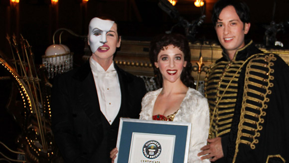 Phantom of the Opera officially now longest-running show in history of Broadway