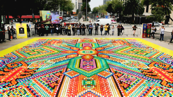 Play-Doh Mexico creates record-breaking tub mosaic for 60th anniversary