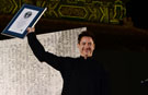 Robert Downey Jr presented with record-breaking birthday card at Iron Man 3 red carpet gala in China