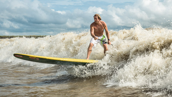 Robby Naish conquers a record on the Amazon for Red Bull