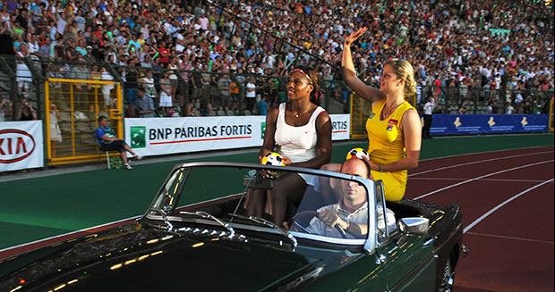 Serena Williams and Kim Clijsters