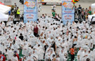 Largest Shaving Cream Pie Fight Held in Dallas