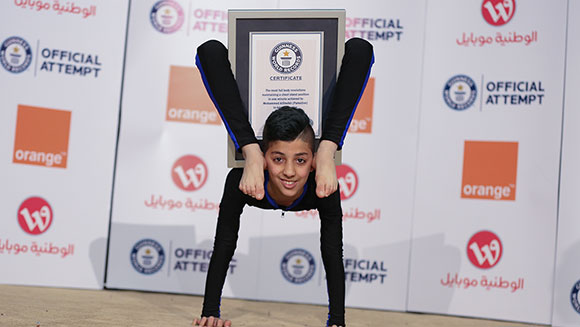 Video: 13-year-old Palestinian athlete dubbed 'Spider-Boy' breaks contortion world record