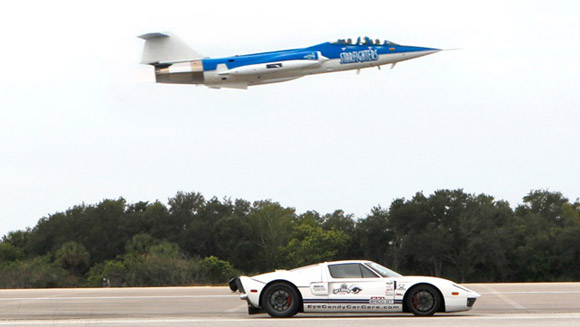 Performance Power Racing drives through fastest standing mile record at Kennedy Space Center
