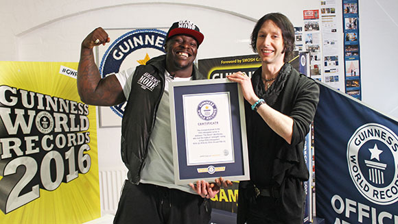Video: Adebayo Akinfenwa - FIFA's strongest player visits GWR HQ